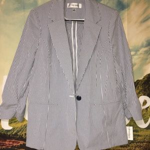 Jones Studio Striped Blazer